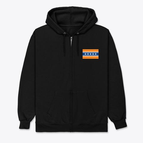 Albany Flag Merchandise Black T-Shirt Front
