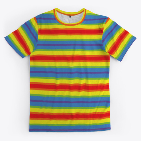 The Unicorn Rainbow Color Standard T-Shirt Front