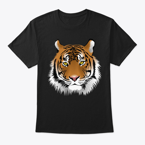 The Tiger Black T-Shirt Front