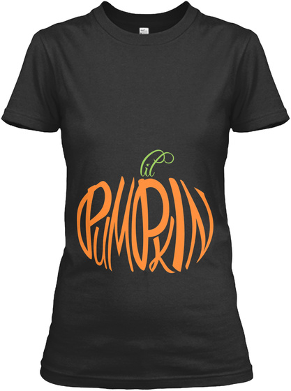 Lil Pumpkin Black Women's T-Shirt Front