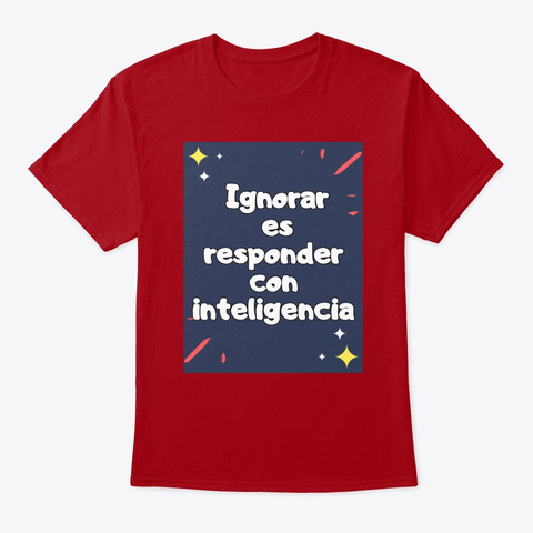 Inteligencia  Deep Red T-Shirt Front