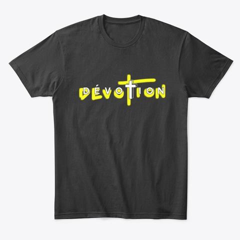 Logo Dévotion Ep   Viens On Parle Sah Black T-Shirt Front