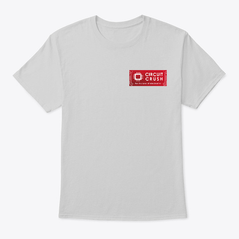 Circuit Crush Logo Tee Light Steel T-Shirt Front