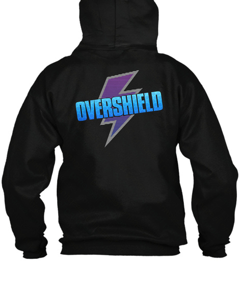 Overshield Zip Up   Game Merch (Us) Black T-Shirt Back