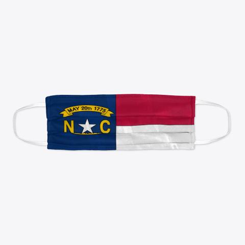 North Carolina State Flag Face Mask Standard Camiseta Flat