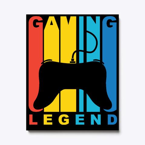 Vintage 1970's Style Gaming Legend Black T-Shirt Front