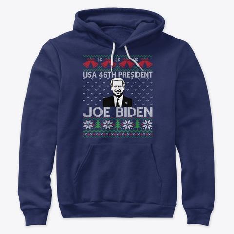 Usa 46th President Joe Biden Navy T-Shirt Front