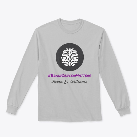 Brain Cancer Matters Sport Grey T-Shirt Front