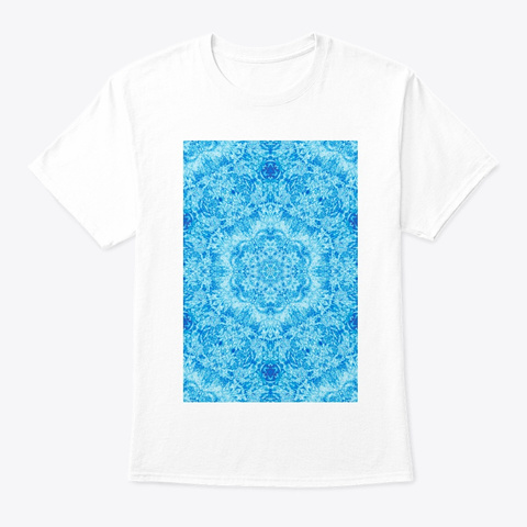 Abstract Art   Water 1 White T-Shirt Front