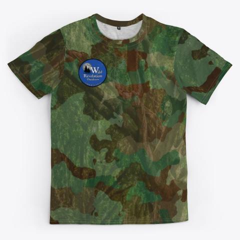 Woodland Camo Unisex Jersey Standard T-Shirt Front