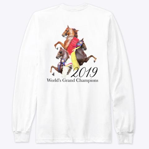 2019 World Grand Champions White T-Shirt Back