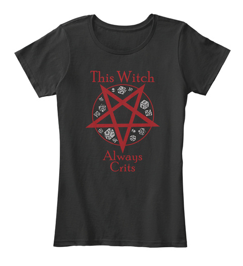 This Witch Always Crits Black Women's T-Shirt Front