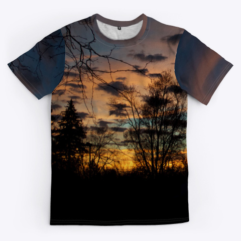 Cool Sunsets Black T-Shirt Front
