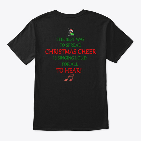 Tinsel Tunes T Shirt Logo And Quote Black T-Shirt Back