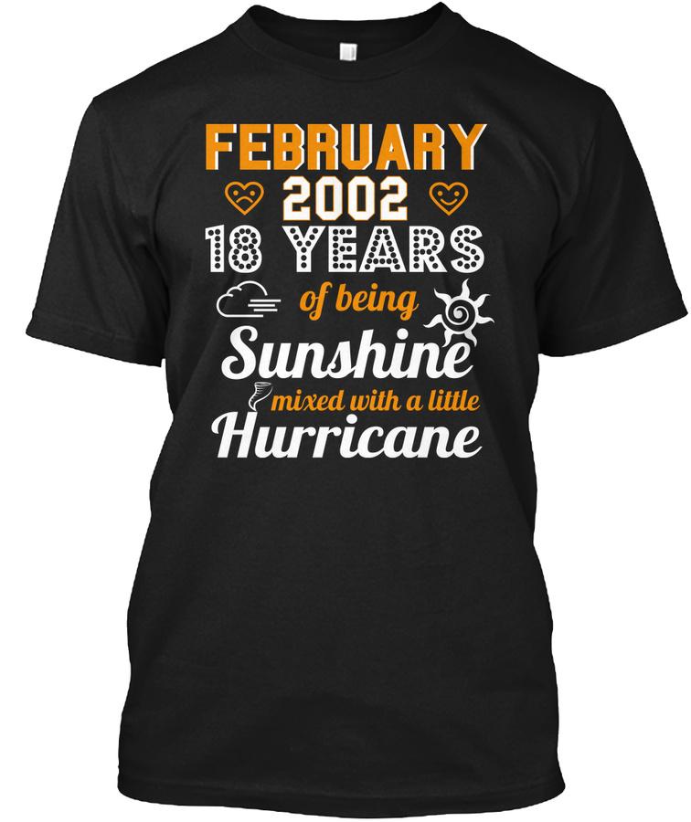 18th Wedding Anniversary February 2002 Unisex Tshirt