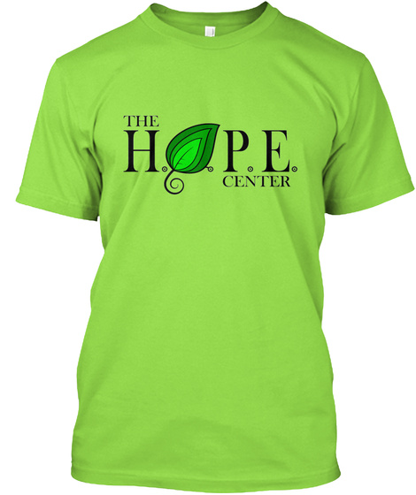The Hope Centre Lime T-Shirt Front