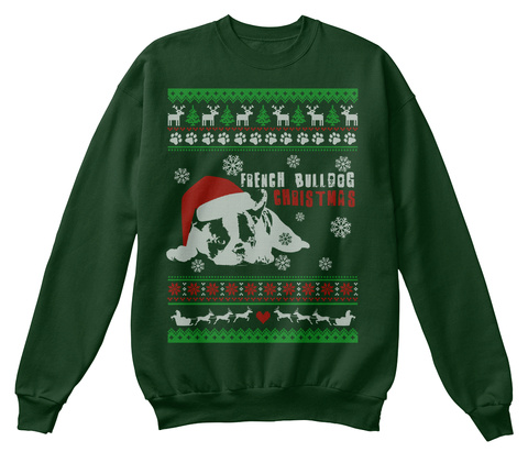 French Bulldog Christmas Jumper.French Bulldog Ugly Christmas Sweater