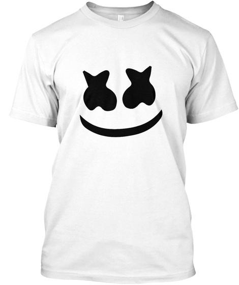 Marshmellow Head White T-Shirt Front
