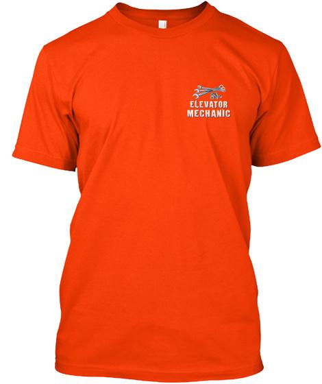 Elevator Mechanic Orange T-Shirt Front