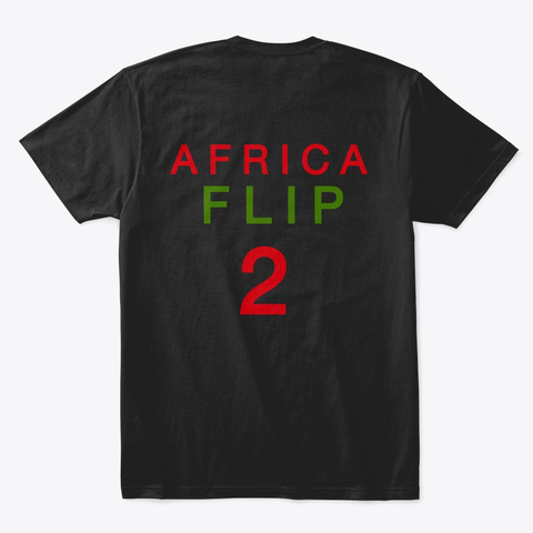 Africa Tee Shirt Black T-Shirt Back