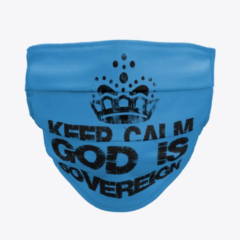 World's Coolest Biblical Face Mask Denim Blue T-Shirt Front
