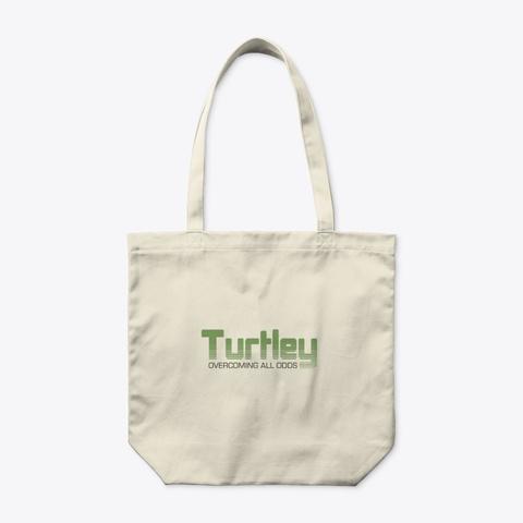 Turtley Tote Bag Natural T-Shirt Front