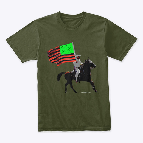 African American Pride Military Green T-Shirt Front