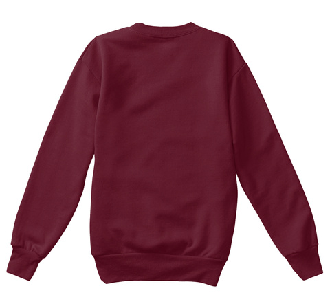 Little Fox Christmas Sweatshirt Maroon T-Shirt Back