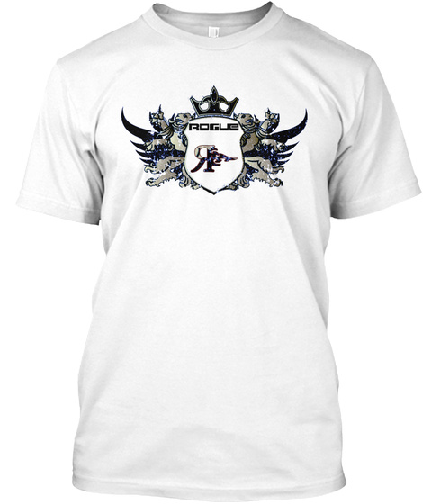 Rogue R White T-Shirt Front