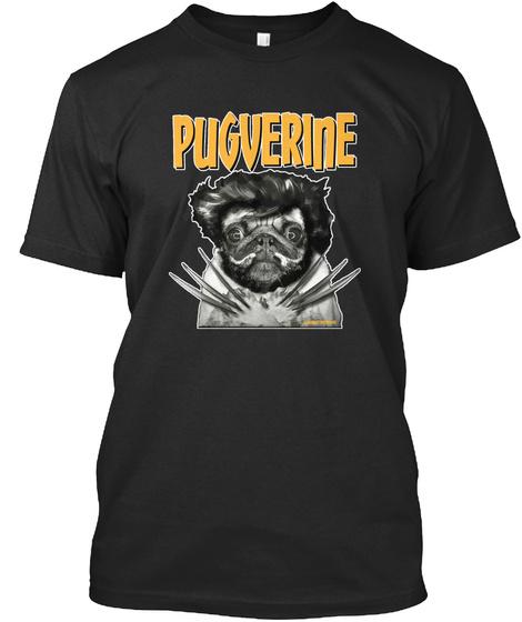 Pugverine Black T-Shirt Front