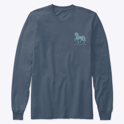 Academy   Chevron Indigo T-Shirt Front