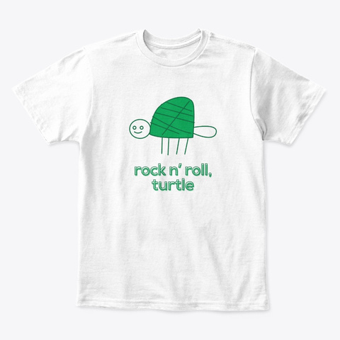 Turtle Shirts White T-Shirt Front