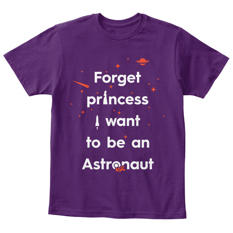 Forget Princess 3 Kid [Int] #Sfsf Purple T-Shirt Front