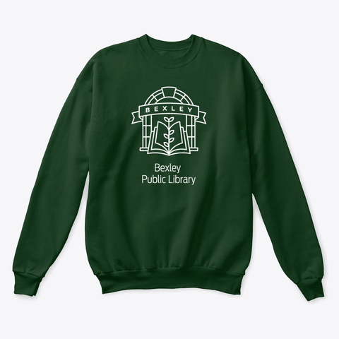 Bexley Public Library Crew Neck Updated Deep Forest  T-Shirt Front