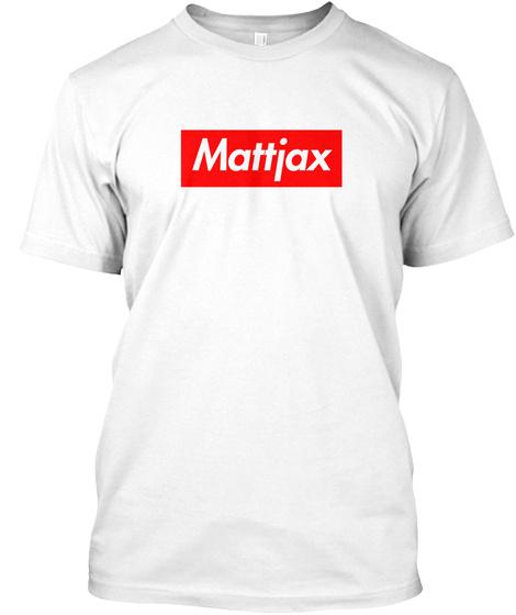 Red Box Logo Mattjax [Eu] White T-Shirt Front