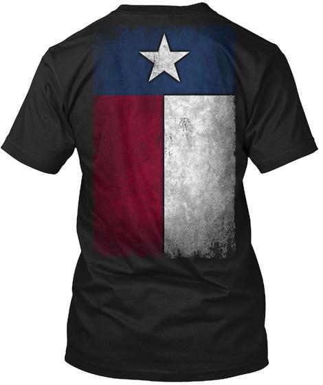 Lone Star Black T-Shirt Back