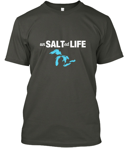 Unsalted Life Smoke Gray T-Shirt Front