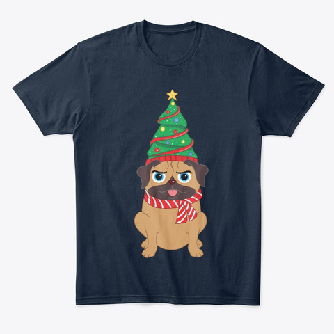 Christmas Tree New Navy áo T-Shirt Front
