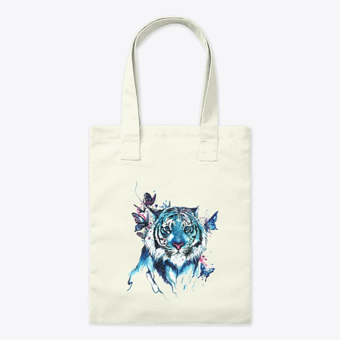 Tiger Bag Natural T-Shirt Front