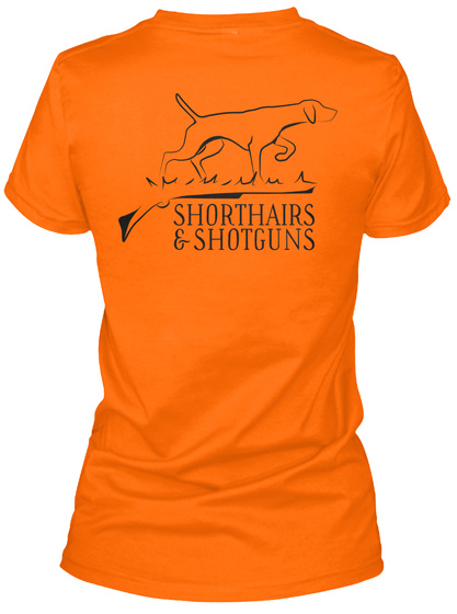 Shorthairs & Shotguns Orange T-Shirt Back