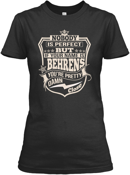 Nobody Perfect Behrens Thing Shirts Black T-Shirt Front