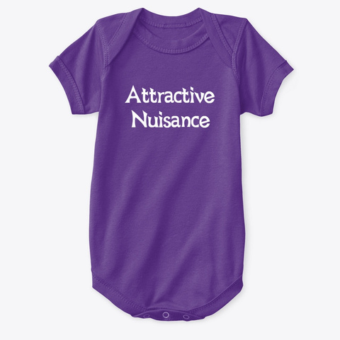 Attractive Nuisance Purple T-Shirt Front