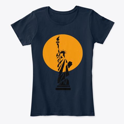 Liberty New Navy Women's T-Shirt Front