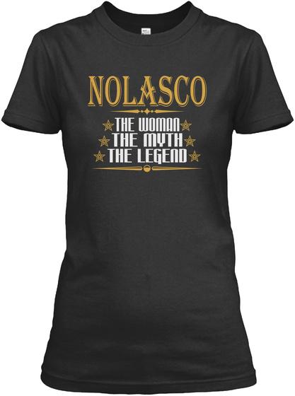 Nolasco The Woman The Myth The Legend Black T-Shirt Front
