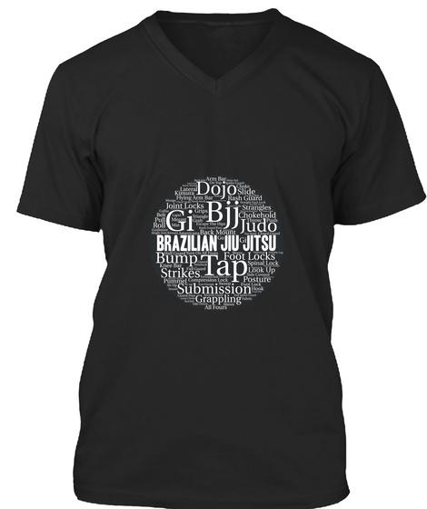Brazilian Jiu Jitsu T Shirt Black T-Shirt Front