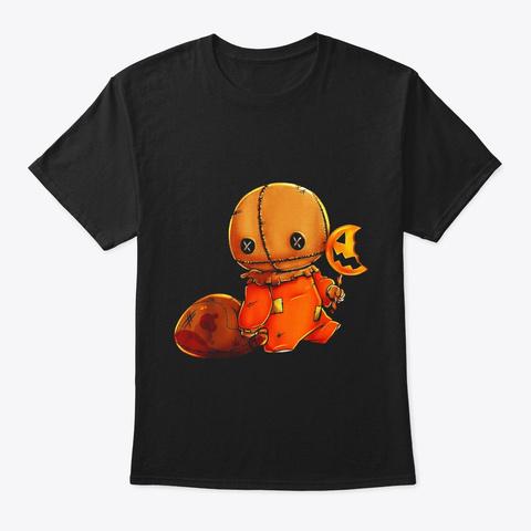 Trick R Treat Funny Cute Sam Halloween Black T-Shirt Front