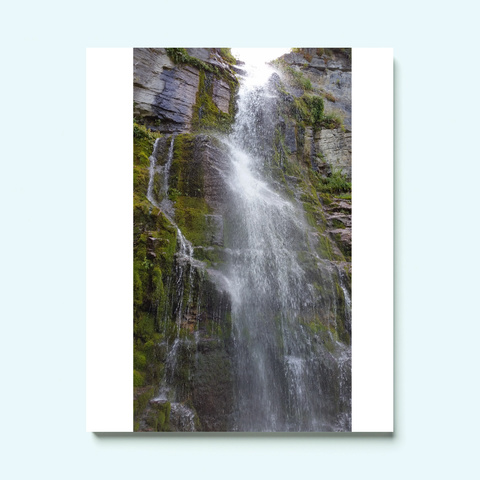 Waterfall White T-Shirt Front