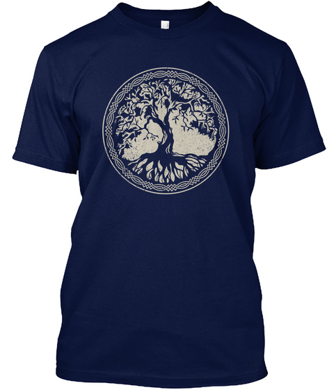 Tree Of Life  Navy T-Shirt Front