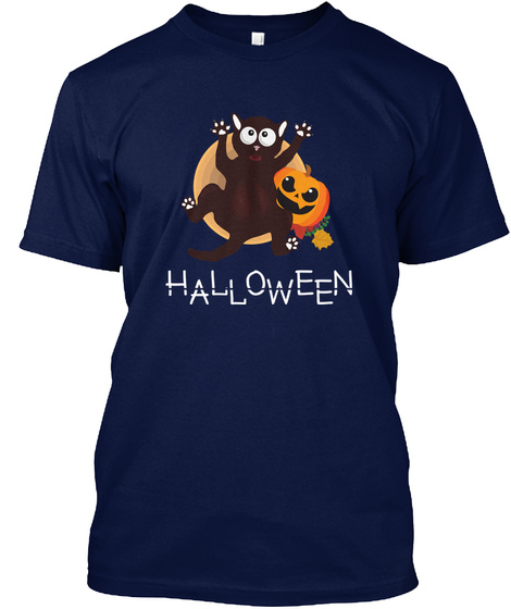 Halloween T Shirts Limited Edition Navy T-Shirt Front