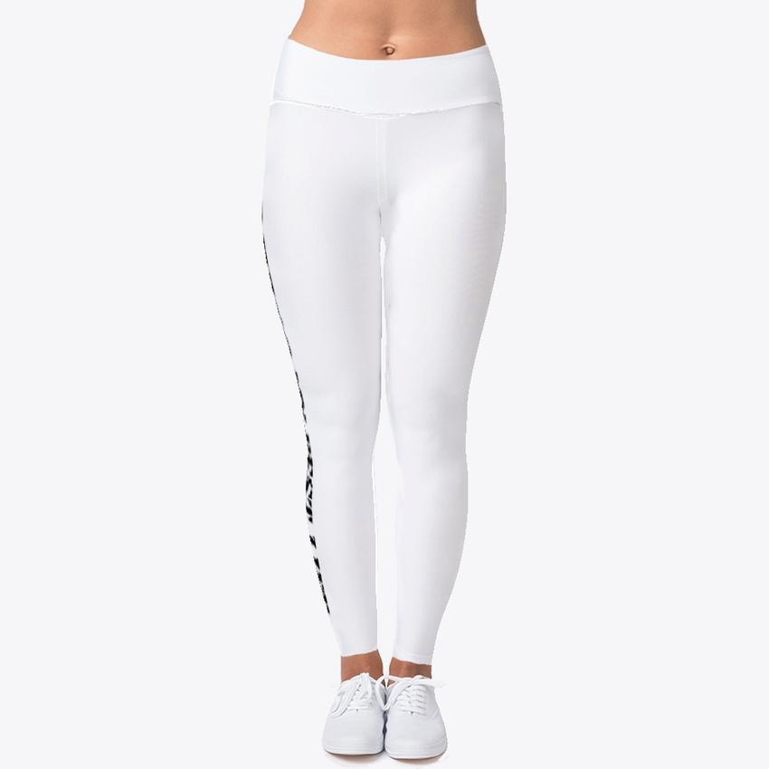 c796e50f0fc936 Details about Custom Living My Best Life Women's Print Fitness Stretch * Leggings* Yoga Pants